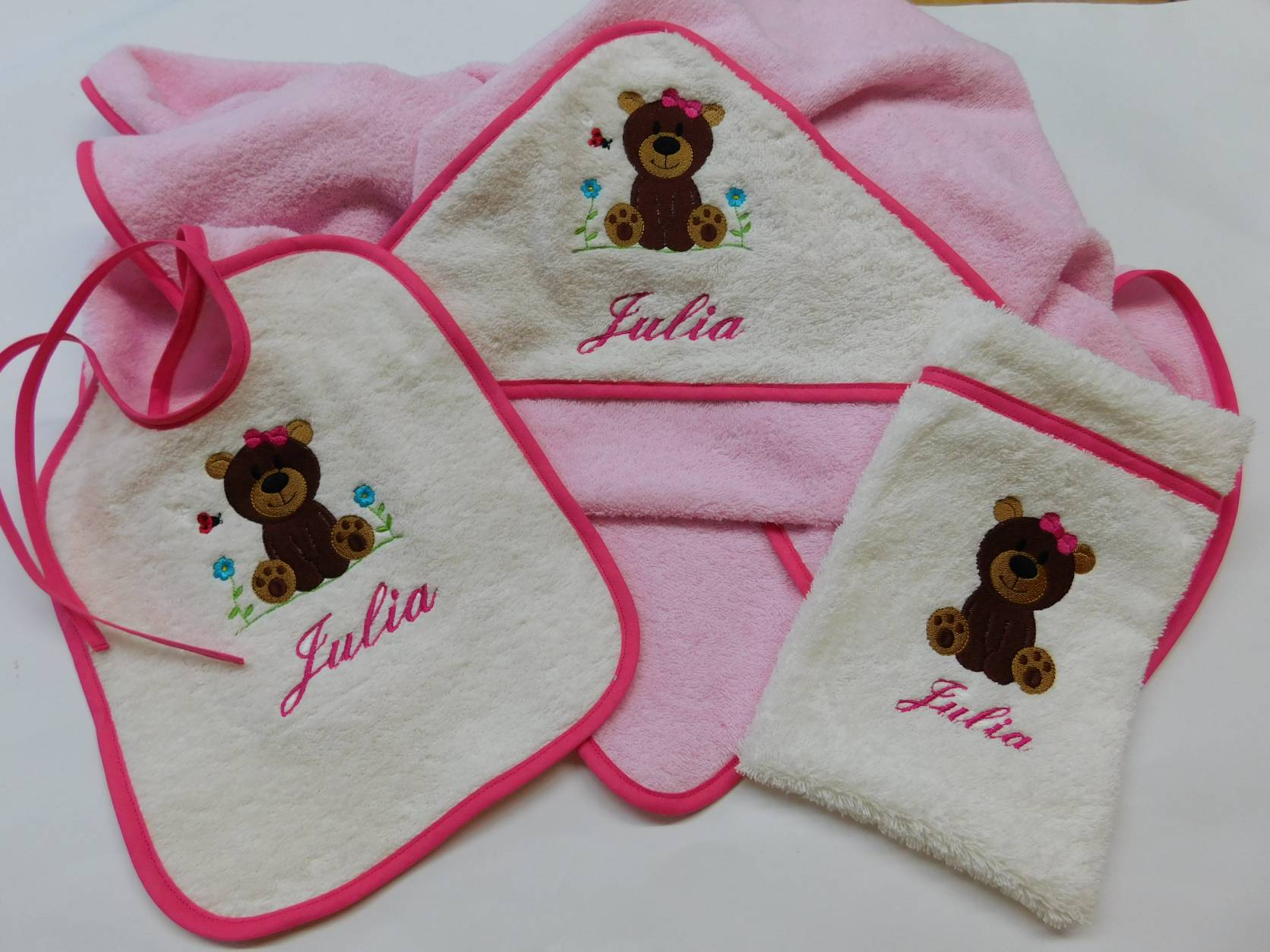 Set 5 rosa-ecru-pink Motiv 01-12-001 + Name